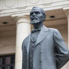 A statue of Karl G. Maeser